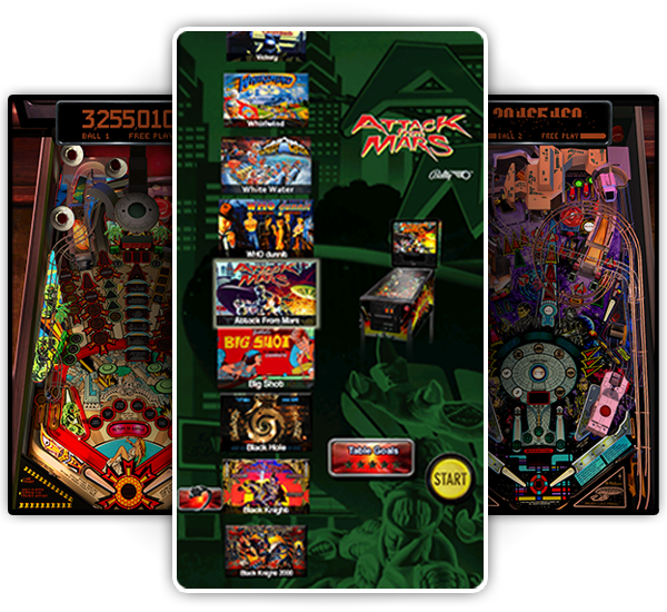 Pinball Arcade Main Menu